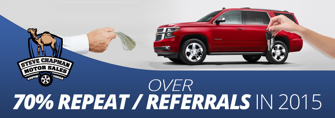 Over 70% Repeat / Referrals in 2015!